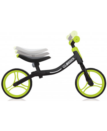 Globber odrážadlo GO BIKE - Black / Lime green