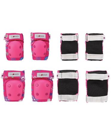 Globber Toddler sada chráničov pre juniorov XXS - flowers pink