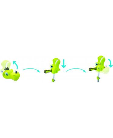 Globber ozdobná hlavička pre kolobežku - dino lime green