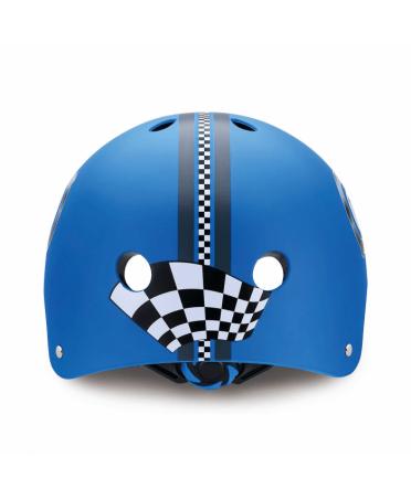 Globber detská prilba PRINTED JUNIOR racing Navy Blue XS/S (51-54 cm)