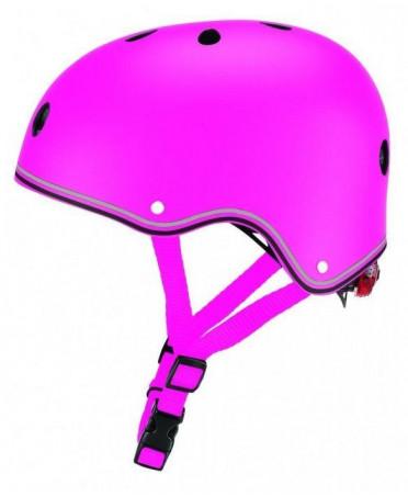Globber detská prilba JUNIOR PRIMO LIGHTS Deep Pink XS/S (48-53 cm)