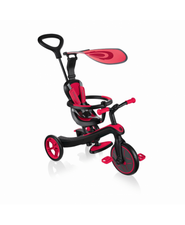 Globber Trojkolka EXPLORER TRIKE 4 IN 1 Red