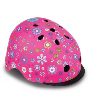 Globber Detská helma Elite Lights Deep Pink - Flower XS/S