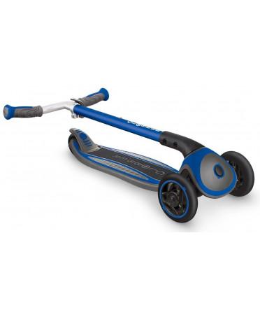 Globber kolobežka MASTER Solid black Wheels Navy Blue