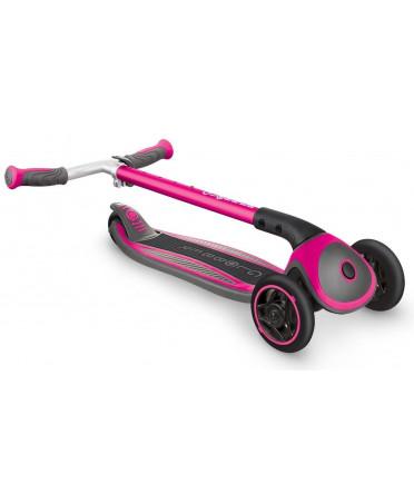 Globber kolobežka MASTER Solid black Wheels Deep Pink