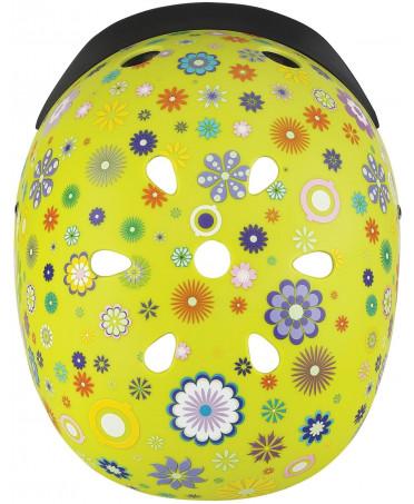 Globber Detská helma Elite Lights Lime Green  - Flowers XS/S
