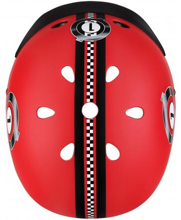 Globber Detská helma Elite Lights New Red Racing XS/S