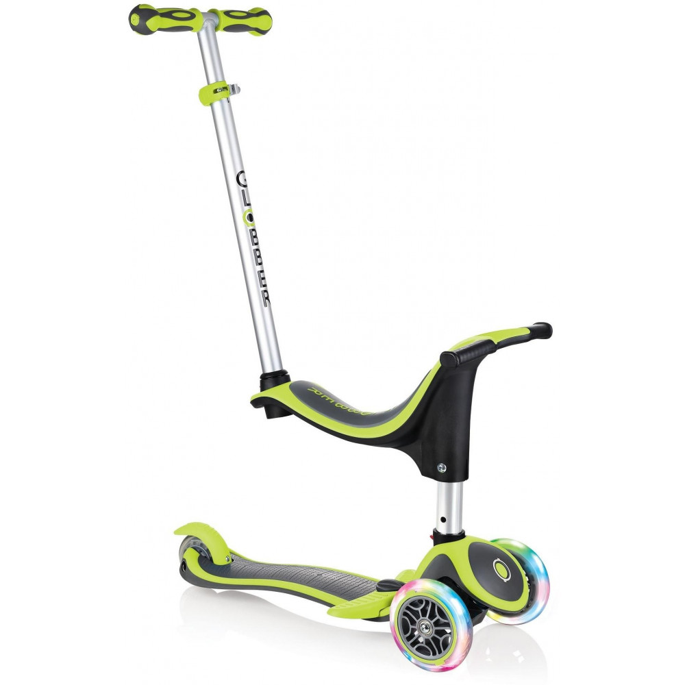 VÝPREDAJ - Globber Kolobežka Evo 4-in-1 Plus Light, Lime Green