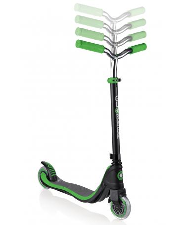 Globber Kolobežka Flow 125 Lights Black / Neon Green